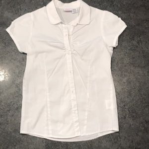 Izod Schoolwear White Button Blouse Girl 12/14